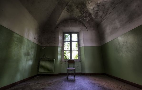 Картинка комната, интерьер, окно, стул