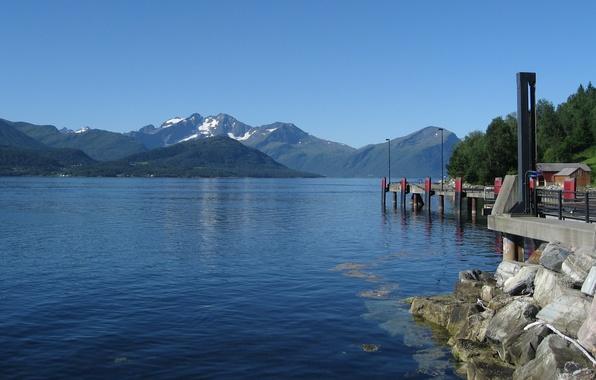 Картинка вода, горы, озеро, Норвегия, sky, water, mountains, lake, Norway, Eivind Saetre