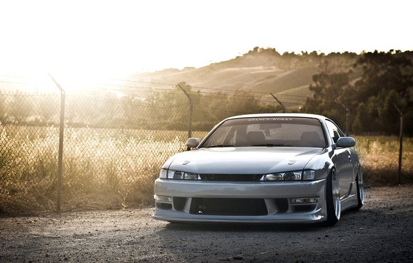 Картинка car, авто, солнце, обоя, nissan, серебряный, silver, дрифт, drift, автомобиль, 2012, japan, ниссан, photo, jdm, …