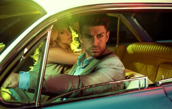 Картинка машина, женщина, мужчина