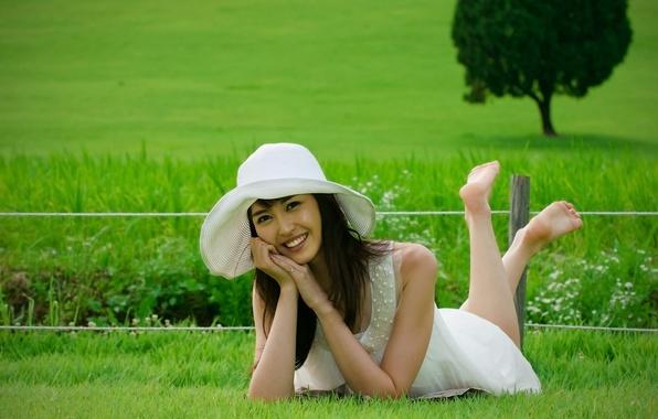 Картинка девушка, улыбка, шляпка