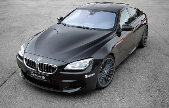 Картинка бмв, купе, BMW, черная, Black, Coupe, F06, G-POWER
