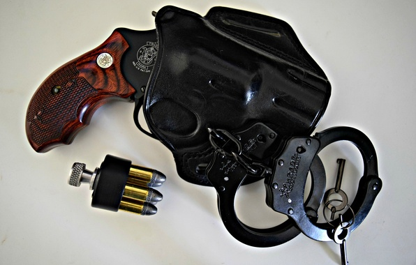 Картинка оружие, патроны, револьвер, кобура, Colt