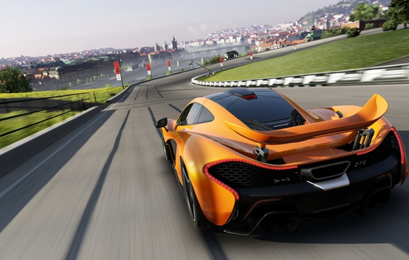 Картинка дорога, машина, гонка, скорость, трасса, mclaren p1, Forza motorsport 5