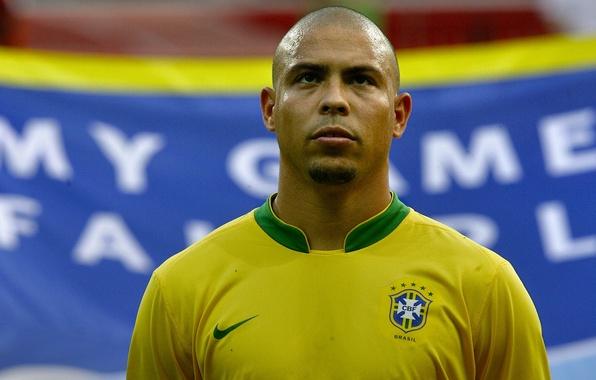 Картинка футбол, звезда, Бразилия, легенда, футболист, football, Реал Мадрид, Brazil, Сборная, Ronaldo, Роналдо, Феномен, Зубастик, Real …