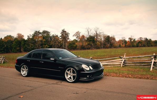 Картинка Mercedes Benz, AMG, Black, Vossen, W211, E class