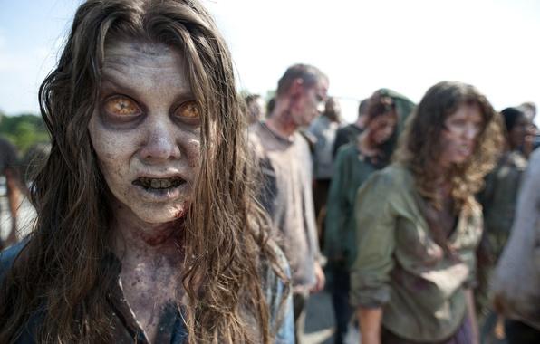Картинка зомби, zombie, сериал, стадо, serial, The Walking Dead, Ходячие мертвецы