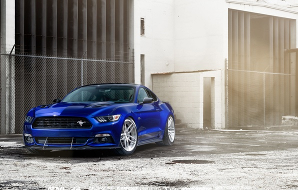 Картинка car, Ford Mustang, blue, William Stern
