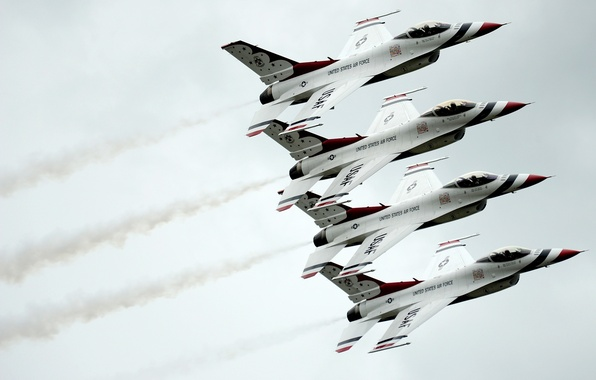 Картинка группа, истребитель, Fighting, F-16, Falcon, Dynamics, General