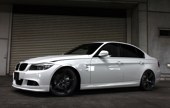 Картинка белый, тюнинг, бмв, BMW, седан, Sedan, E90, 3 Series, 2014, 3D Design