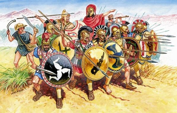 Картинка Рим, Живопись, пехота, Войско, V - IV вв. до н.э., Palacios, Греческая