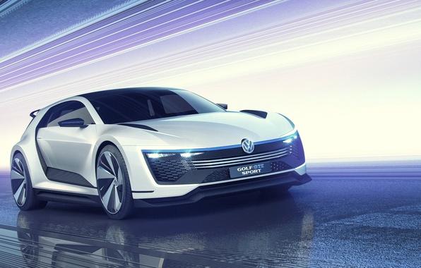 Картинка Concept, Volkswagen, гольф, Golf, фольксваген, Sport, GTE, 2015