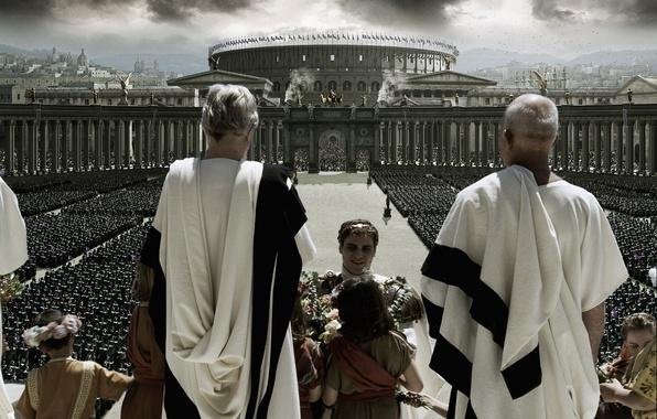 Обои картинки фото гладиатор, рим, сенат, колизей