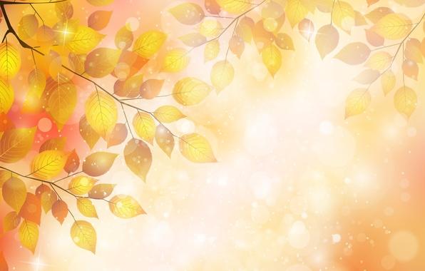 Картинка осень, листья, пузыри, веточка, bubbles, autumn, leaves, twigs, блески, gloss
