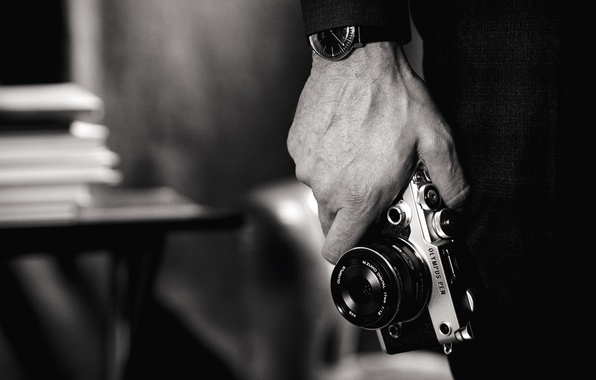 Картинка wallpaper, photography, style, photo, photographer, art, camera, black and white, hand, time, clock, Olympus, technology, …