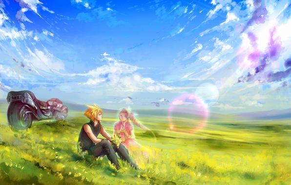 Картинка Игра, мотоцикл, Game, Final Fantasy VII