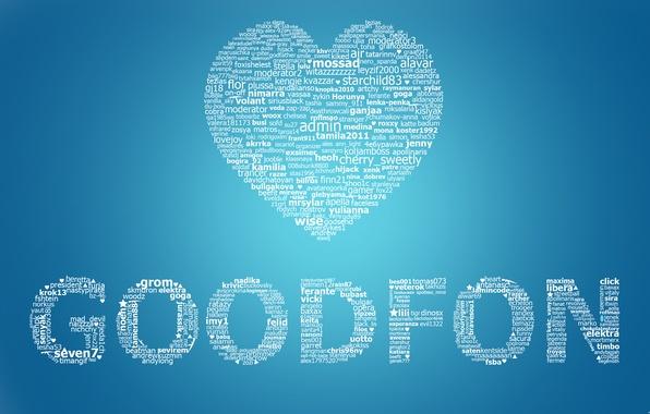 Фото обои фон, сайт, обои, гудфон, пользователи, абстракции, fon, good, love, goodfon