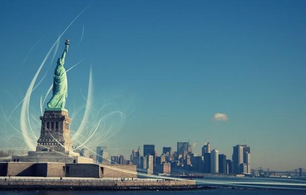 Картинка Свобода, Статуя Свободы, New York, озаряющая мир, Statue of Liberty, Liberty Enlightening the World