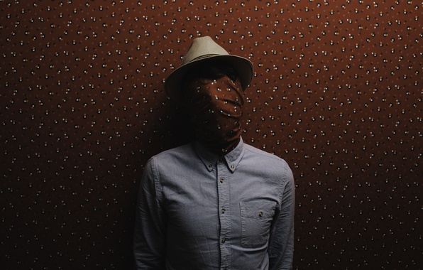Картинка wallpaper, hat, man, dress shirt, covered face