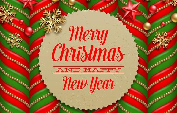 Картинка Happy New Year, Merry Christmas, С новым годом
