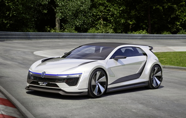 Картинка Concept, Volkswagen, концепт, гольф, Golf, фольксваген, GTE