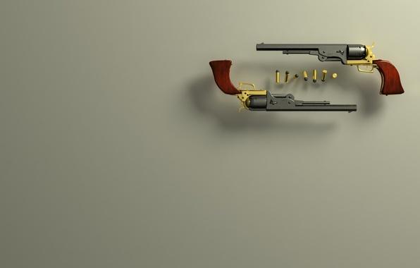 Картинка пистолет, пуля, кольт
