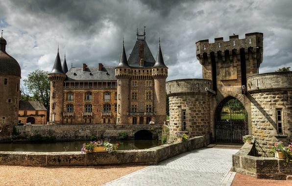 Картинка замок, Франция, башни, крепость, Castle of La Clayette