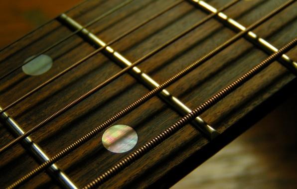 Картинка гитара, струны, лад, гриф