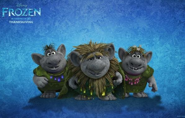 Картинка мультфильм, сказка, Frozen, тролли, холодное сердце, trolls