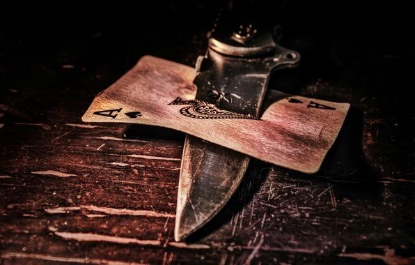 Картинка карта, нож, туз, Ace of spades