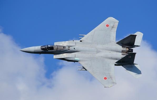 Картинка полет, истребитель, Eagle, японский, McDonnell Douglas, F-15J