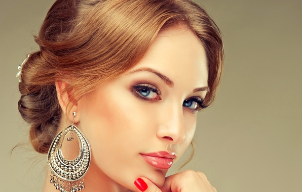 Картинка девушка, украшения, лицо, женщина, girl, woman, beautiful, lips, face, person, jewelry