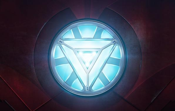 Картинка cinema, high-tech, red, gun, armor, weapon, heart, power, Iron Man, Machine, energy, Marvel, movie, hero, …