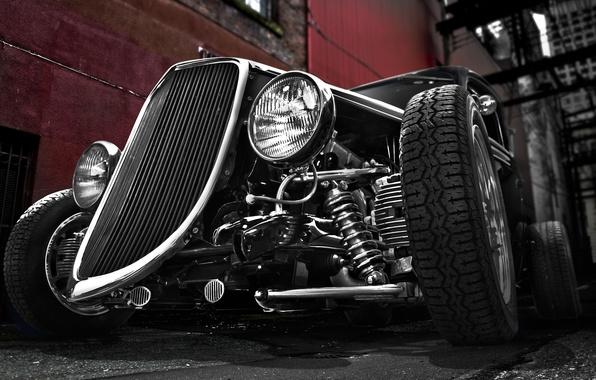 Картинка ретро, Ford, Форд, классика, 1934, хот род
