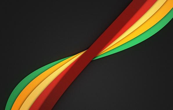 Картинка линии, абстракция, ленты, фон, wallpaper, разноцветные