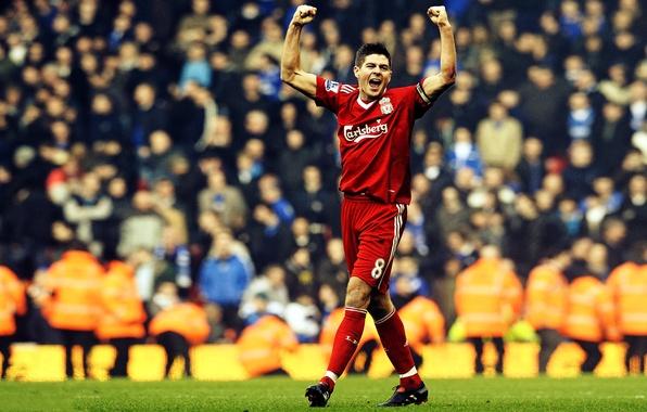 Картинка Футбол, Football, Ливерпуль, Джерард, Gerrard, Liverpool