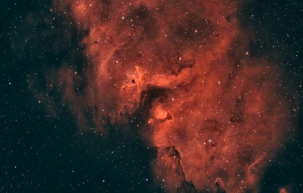 Картинка космос, Туманность, Кассиопея, «Душа», в созвездии, находящаяся