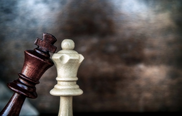 Картинка love, game, macro, chess, queen, king