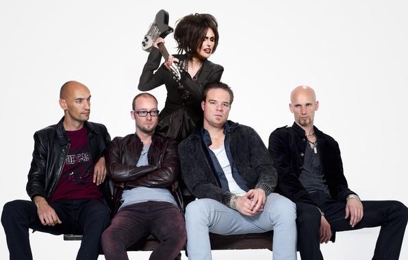Картинка гитара, группа, Нидерланды, метал, рок, Within Temptation, Шарон ден Адель, Sharon den Adel, Robert Westerholt