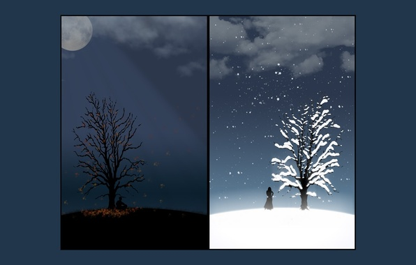 Картинка грусть, осень, Зима
