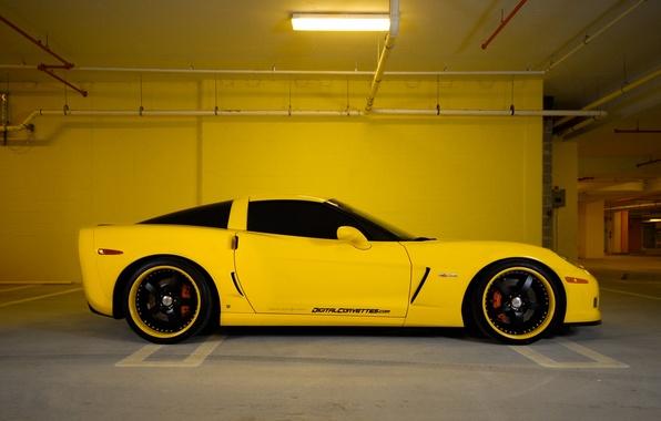 Картинка Chevrolet, стоянка, City, парковка, corvette, chevrolet, cars, auto, остановка, z06, wallpapers auto, обои авто, Parking