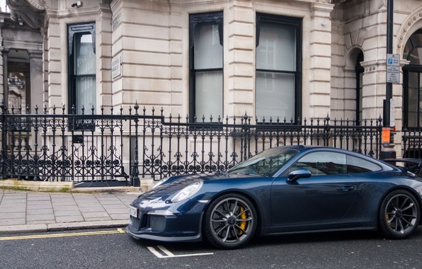 Картинка Porsche, Blue, GT3, London, Supercar, 991