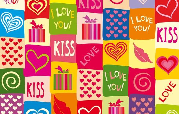 Картинка любовь, colorful, сердечки, love, I love you, background, romantic, hearts, sweet