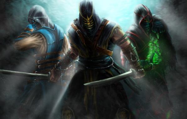 Картинка Scorpion, Assassins, Sub-Zero, Kombat, Mortal, Ermac