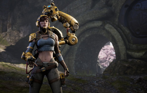 Картинка Microsoft, girl, game, woman, caster, oppai, PlayStation 4, PS4, Epic Games, Paragon, PC, Gadget, ranged