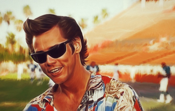 Картинка Jim Carrey, look, ace ventura, colorful shirt