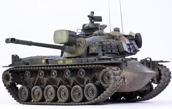 Картинка игрушка, дуло, средний танк, моделька, М48А3, Паттон III