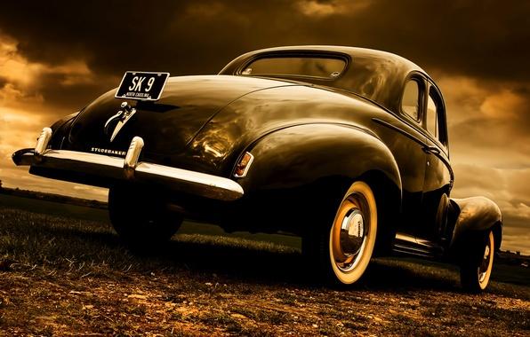 Картинка стиль, ретро, Coupe, Studebaker, 1940