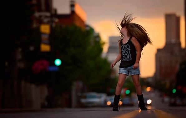 Картинка свобода, улица, волосы, девочка, fashion, child photography, Free as a bird, photography and style