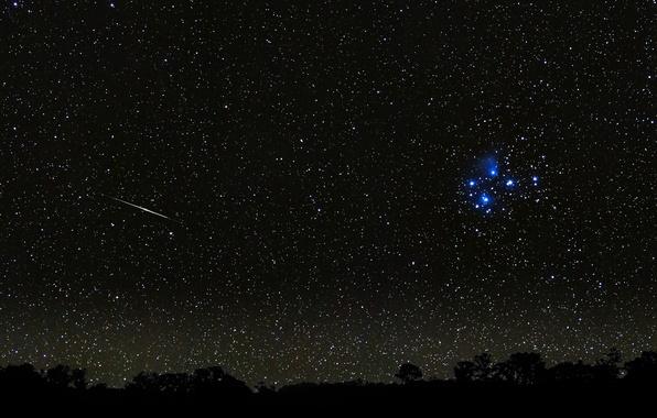 Картинка звезды, метеор, Плеяды